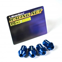 Wedssport Racing Lug Nuts Forged Aluminum 19 HEX M12xP1.5 Blue